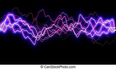 blue lightning flash background discharge