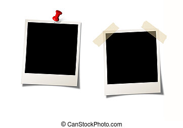 Two Instant Photos on white background