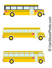 School bus. - School bus on a white background.