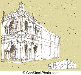 Sketching Historical Architecture in Italy. Illustration is...