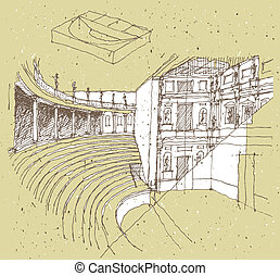 Sketching Historical Architecture in Italy: Theatre...