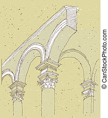 Sketching Historical Architecture in Italy: detail....