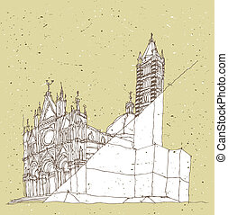Sketching Historical Architecture in Italy: Sienna, Tuscany...