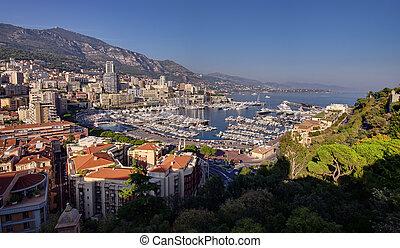Monte Carlo cityscape - Monaco, Monte Carlo cityscape.Azure...