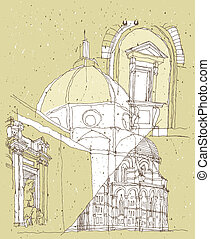 Sketching Historical Architecture in Italy: Basilica of...