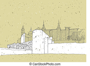 Sketching Historical Architecture in Italy: Urbino....