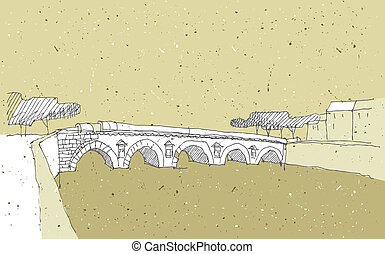 Sketching Historical Architecture in Italy: Bridge of...