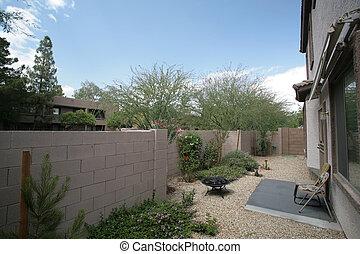 Arizona, estilo, quintal