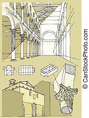 Church in Rome Basilica di Sant Agnese fuori le mura:...