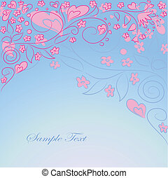 blue background with hand drawing ornate