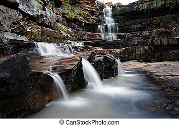 Kimberley falls - One of the many waterfalls with rock pools...