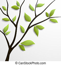 Abstract tree with green leaves