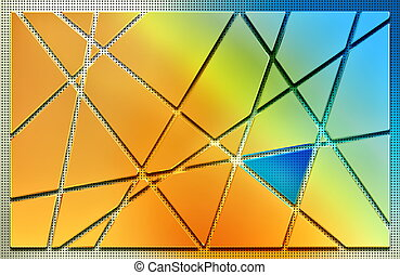 background with pieces of metal plate and glass