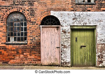Birmingham - Window and doors in old warehouse Abandoned...