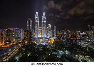 Kuala Lumpur night view