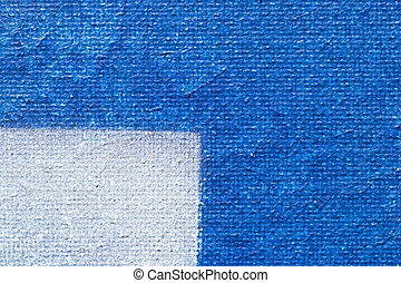 One Quarter - Painted Canvas: One Quarter Painted With White...