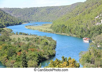 Croatia - Krka National Park in Dalmatia Beautiful river...