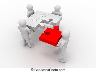 team puzzle concept