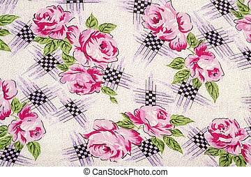 Flowery Table Cloth - Very Detailed Table Cloth With Roses...