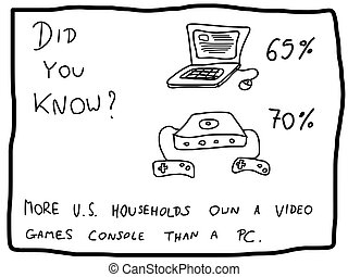 Fun fact trivia - useful doodle illustration usable as a...