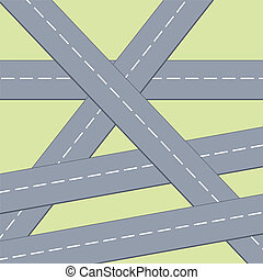 Roads background - Transportation infrastructure background...