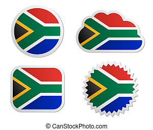 South Africa flag labels