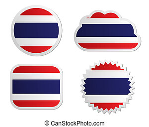 Thailand flag labels