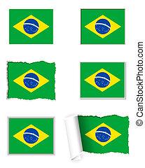 Brazil flag set