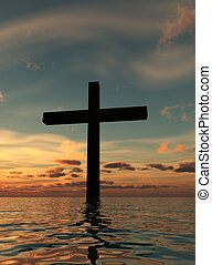 The Holy Cross Landscape 3 - The cross of Jesus in a...