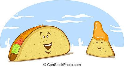 Mexican Food Cartoon