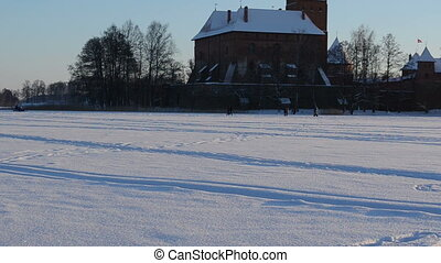 snowmobile people trakai - snowmobile transport and people...