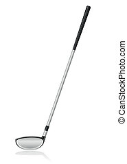 golf club vector illustration isolated on white background