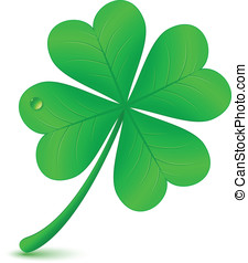 Four leaf clover St Patricks day symbol - Four leaf clover...