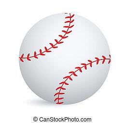 Baseball ball illustration design over a white background