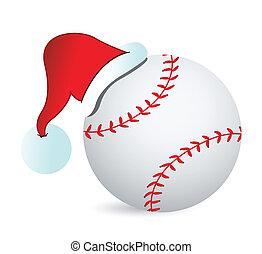 Baseball Santa Cap illustration design over a white...