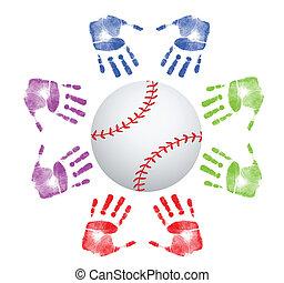Baseball community concept illustration design over white