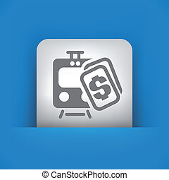 Illustration of single vector icon. - Vector illustration of...