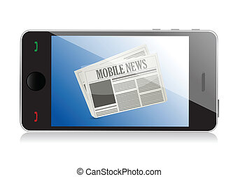 Smart phone with mobile news