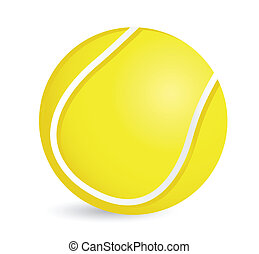 Tennis ball illustration design over a white background