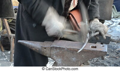 smith hammer forge iron - Blacksmith smith man with hammer...