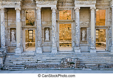 Ephesus - The ruins of the ancient city of Ephesus in Turkey