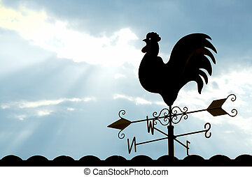 Weather Vane in morning Sky