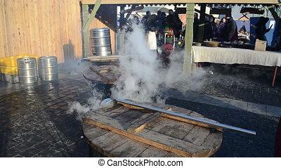 hot wine pot people fair
