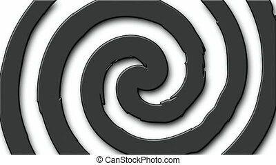 Cartoon hypno circle - Black and white cartoon hypnosis...