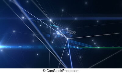 Future Blue Network - Futuristic computer network
