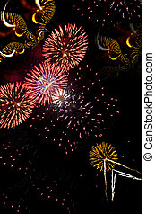 Fireworks Finale - Image of multiple fireworks explosions at...
