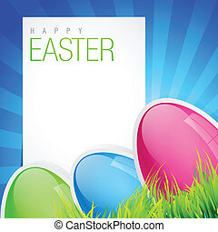 easter holiday backgorund - easter holiday background with...