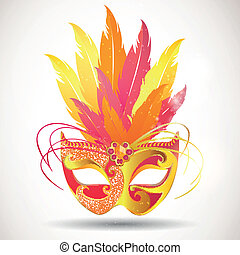 Vector Carnival Mask - Vector Illustration of a Festive...