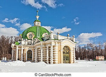 Kuskovo, Moscow - Pavilion a grotto in Kuskovo estate in...