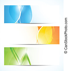 Set of wavy banners Abstract illustration